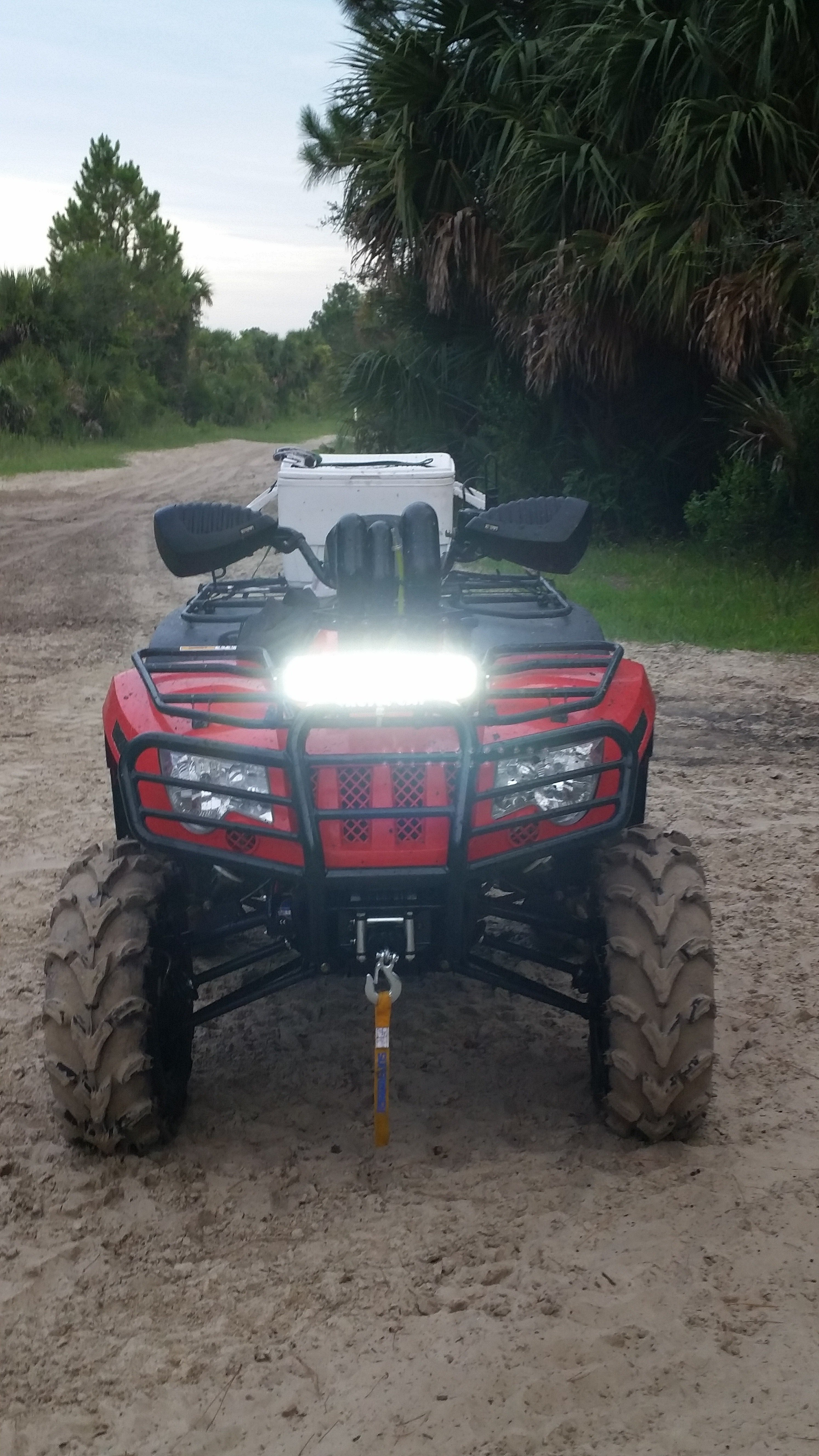 Led light bar atvconnection atv enthusiast community this guy might as well just say goodby to having a front rack of course he has a snorkel so the front rack was already pointless to him aloadofball Images