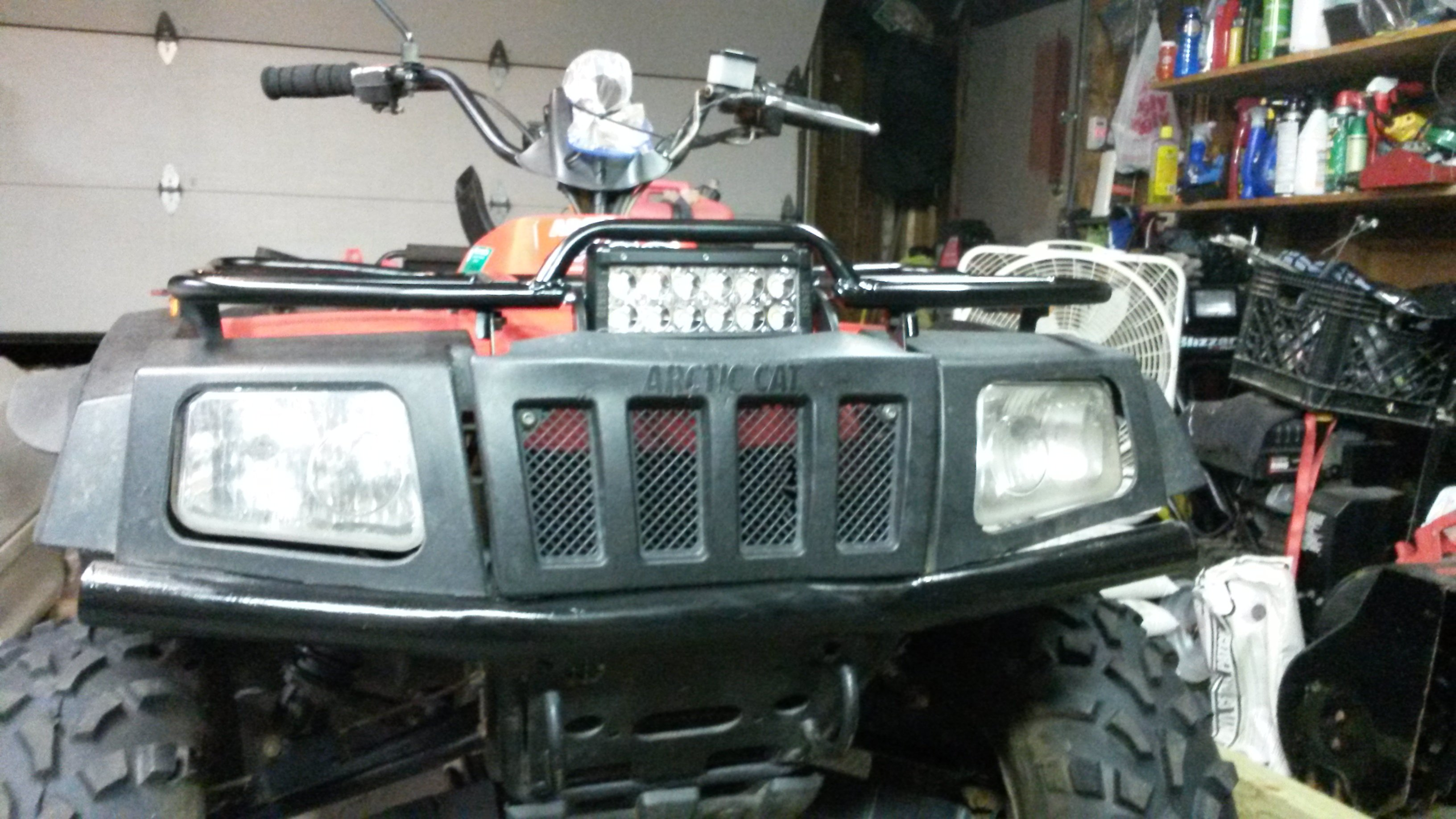 What size led light bar clamp a for front rack arcticchat click image for larger version name 20140807223758g views 3681 size 157 mozeypictures Gallery