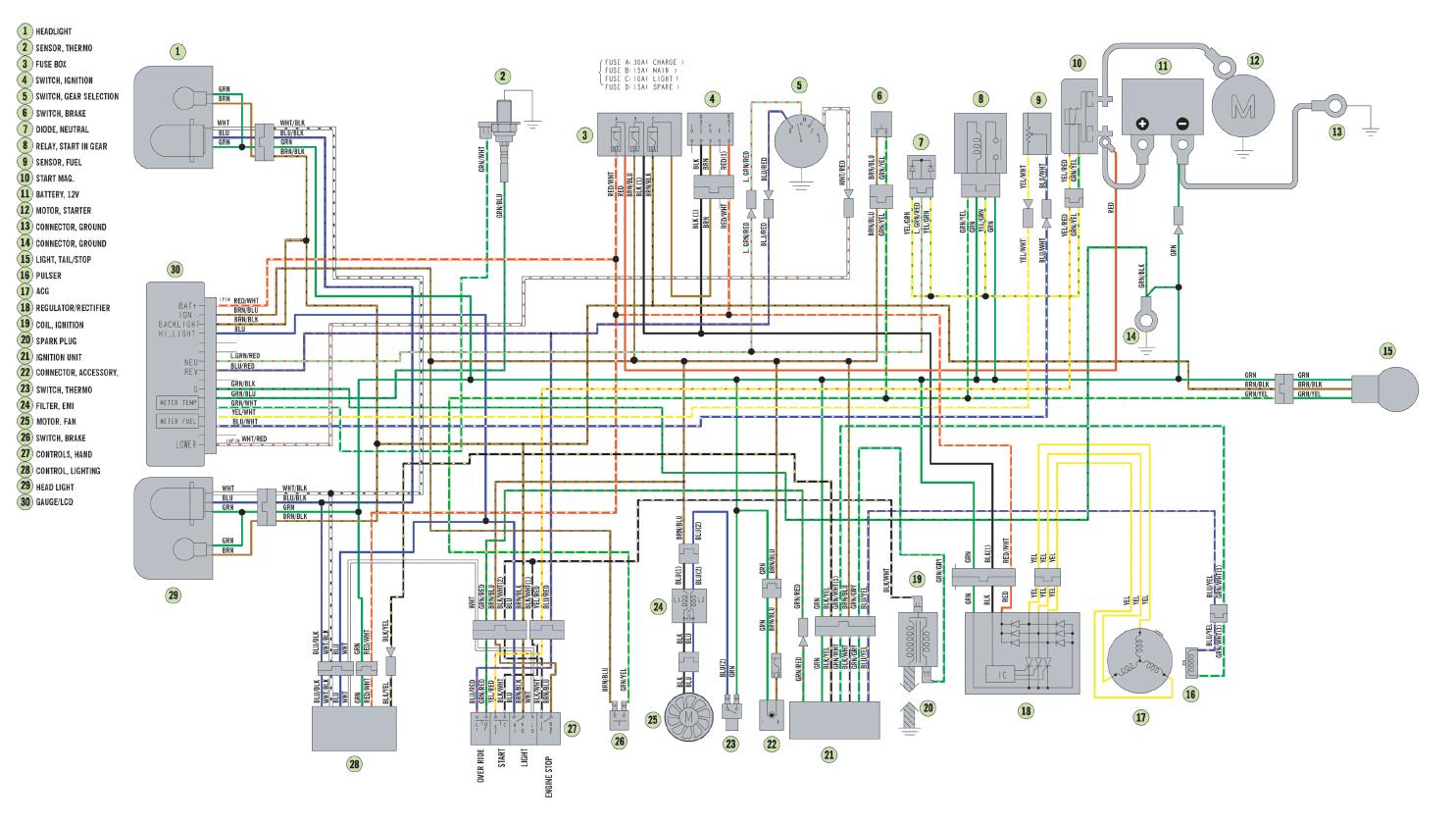 01 arctic cat 250 wiring diagram arctic cat tigershark wiring diagram
