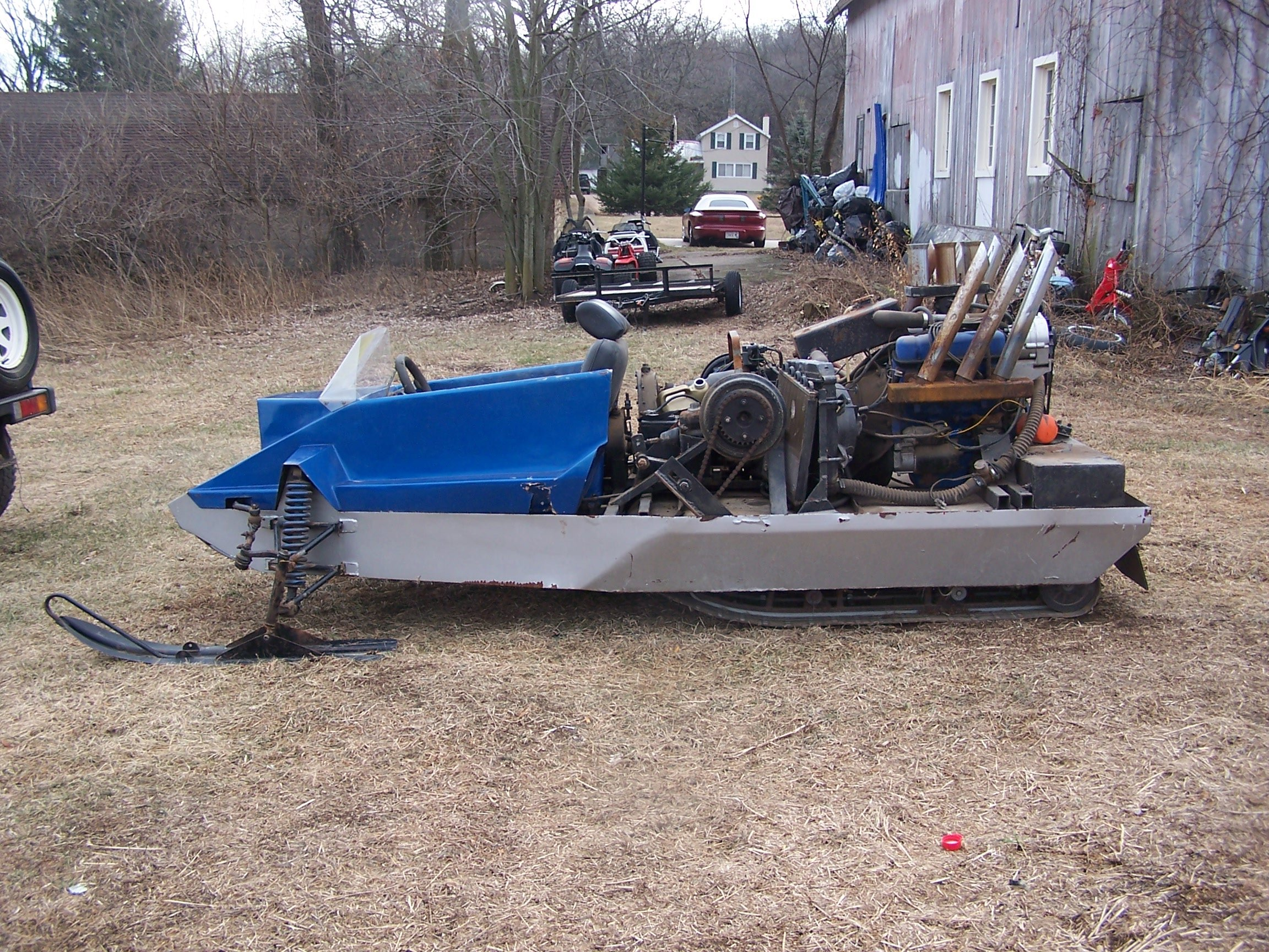 Polaris Com Atv >> Lets see Your Pictures of Homemade Snowmobiles... - ArcticChat.com - Arctic Cat Forum