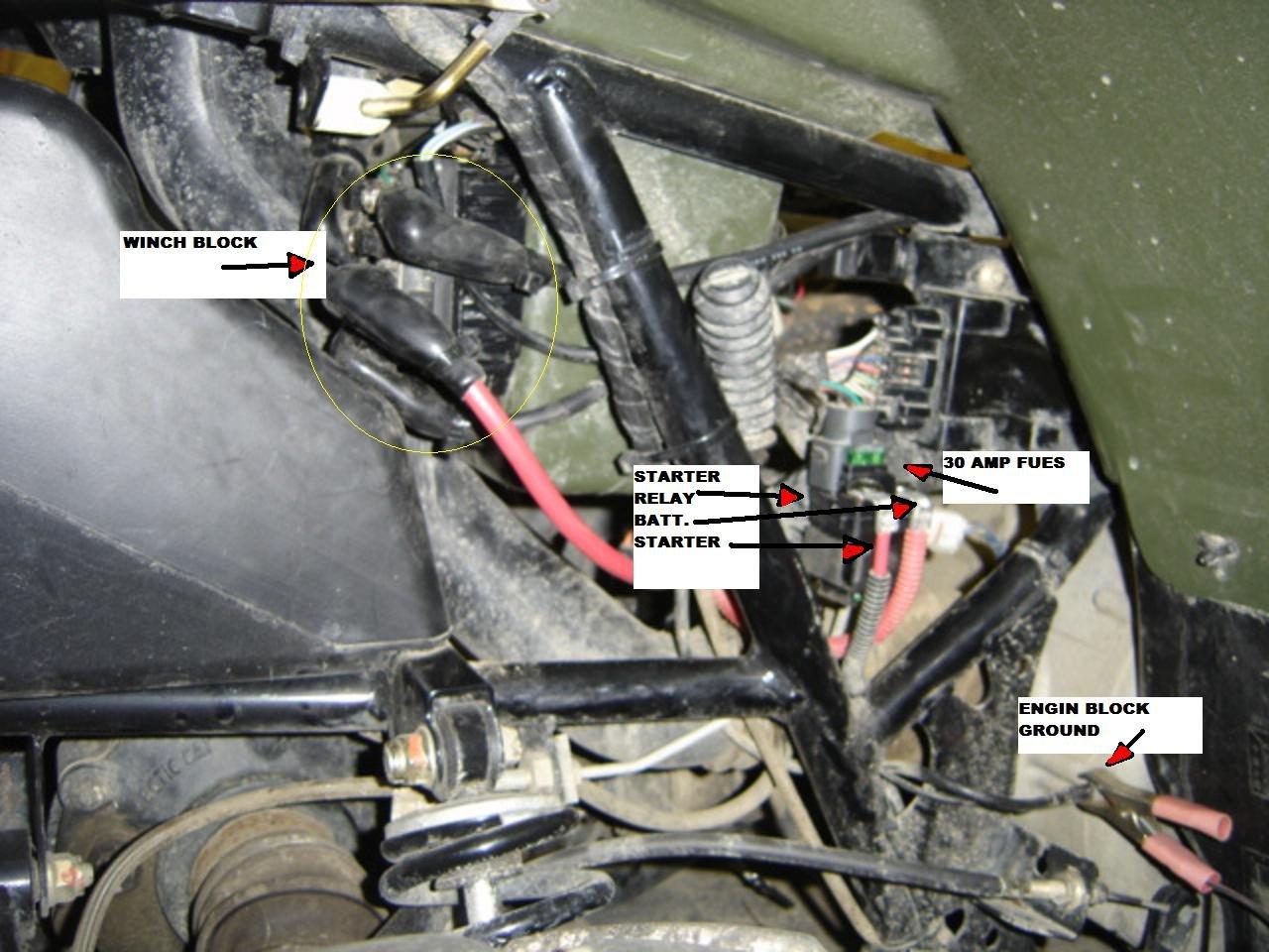 honda 2000 atv winch wiring diagram starter relay no power after it  400 atv arctic cat forum  starter relay no power after it  400