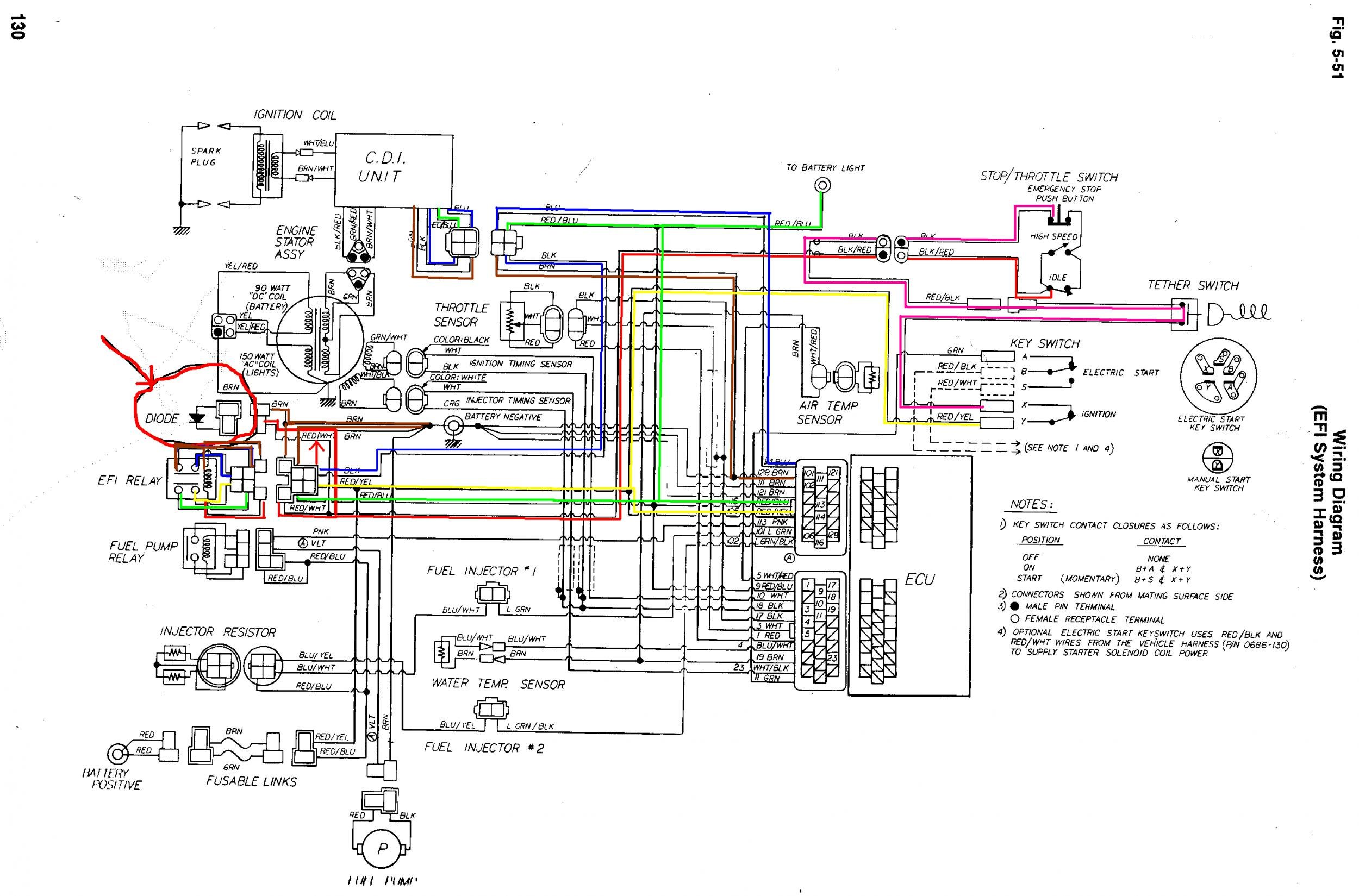 214106d1334496273 550 efi wiring 93extefiwiringcolored 550 efi wiring arcticchat com arctic cat forum Chevy Starter Wiring Diagram at creativeand.co