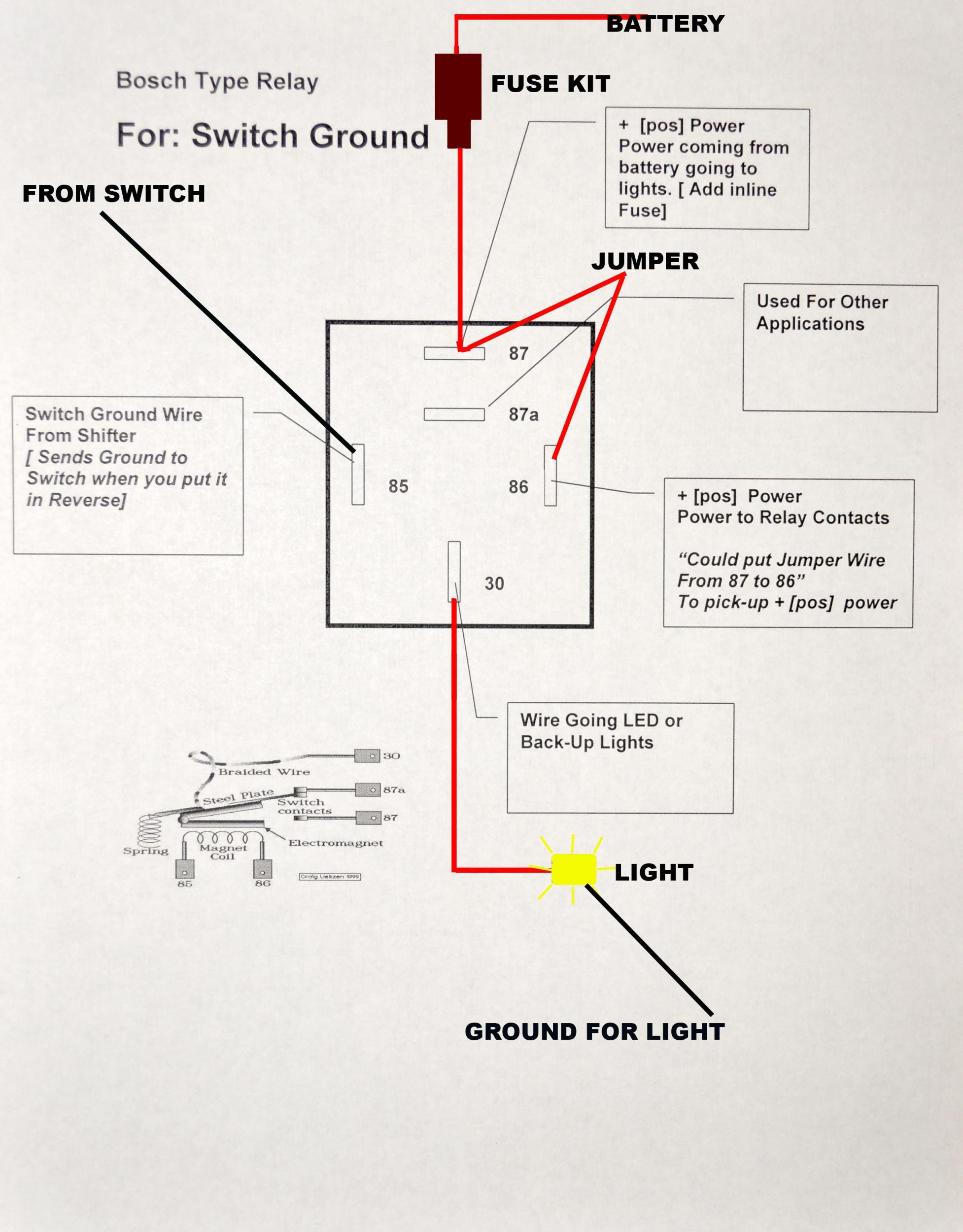 Bosch Type Relay Wiring Diagrams Solutions Fog Light Diagram Circuit Connection