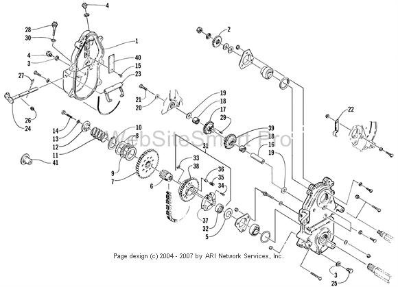 arctic cat chain case diagram