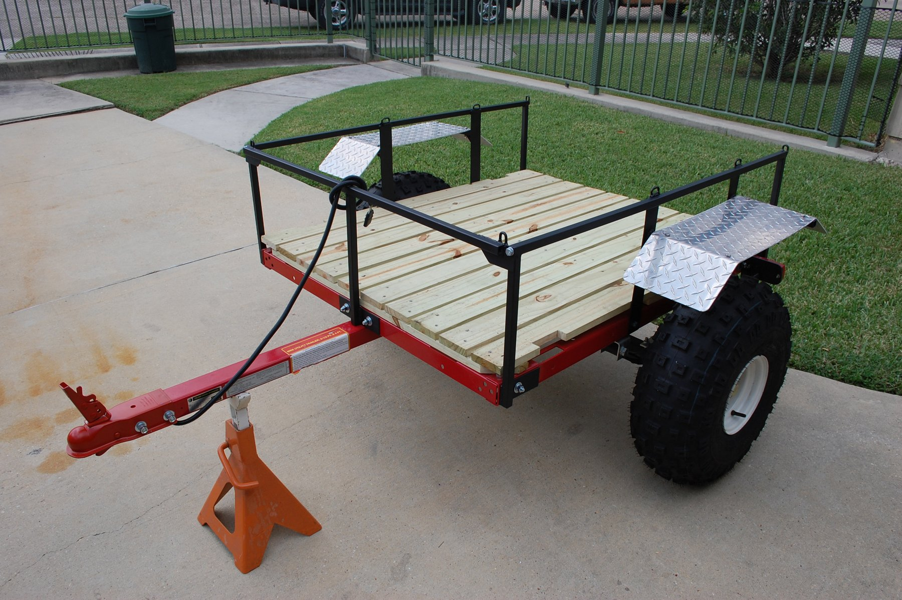 10 Small House Designs That Break Preconceptions About Small Size: Home Made ATV Trailer