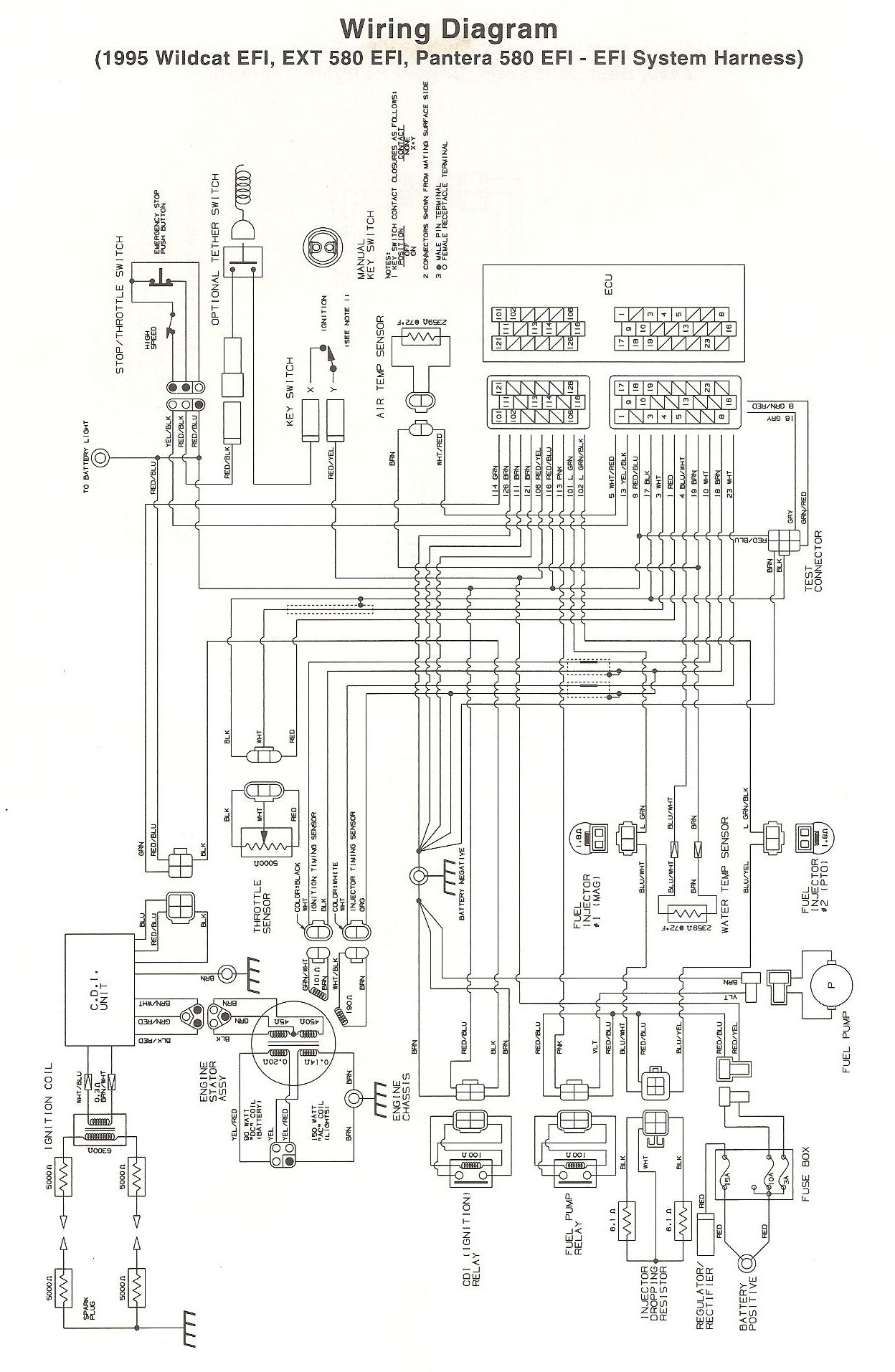 [SCHEMATICS_4ER]  96 Wildcat 700 EFI | Arctic Cat Forum | Arctic Cat Snowmobile 4 Stroke Wiring Diagrams |  | Arctic Cat Forum