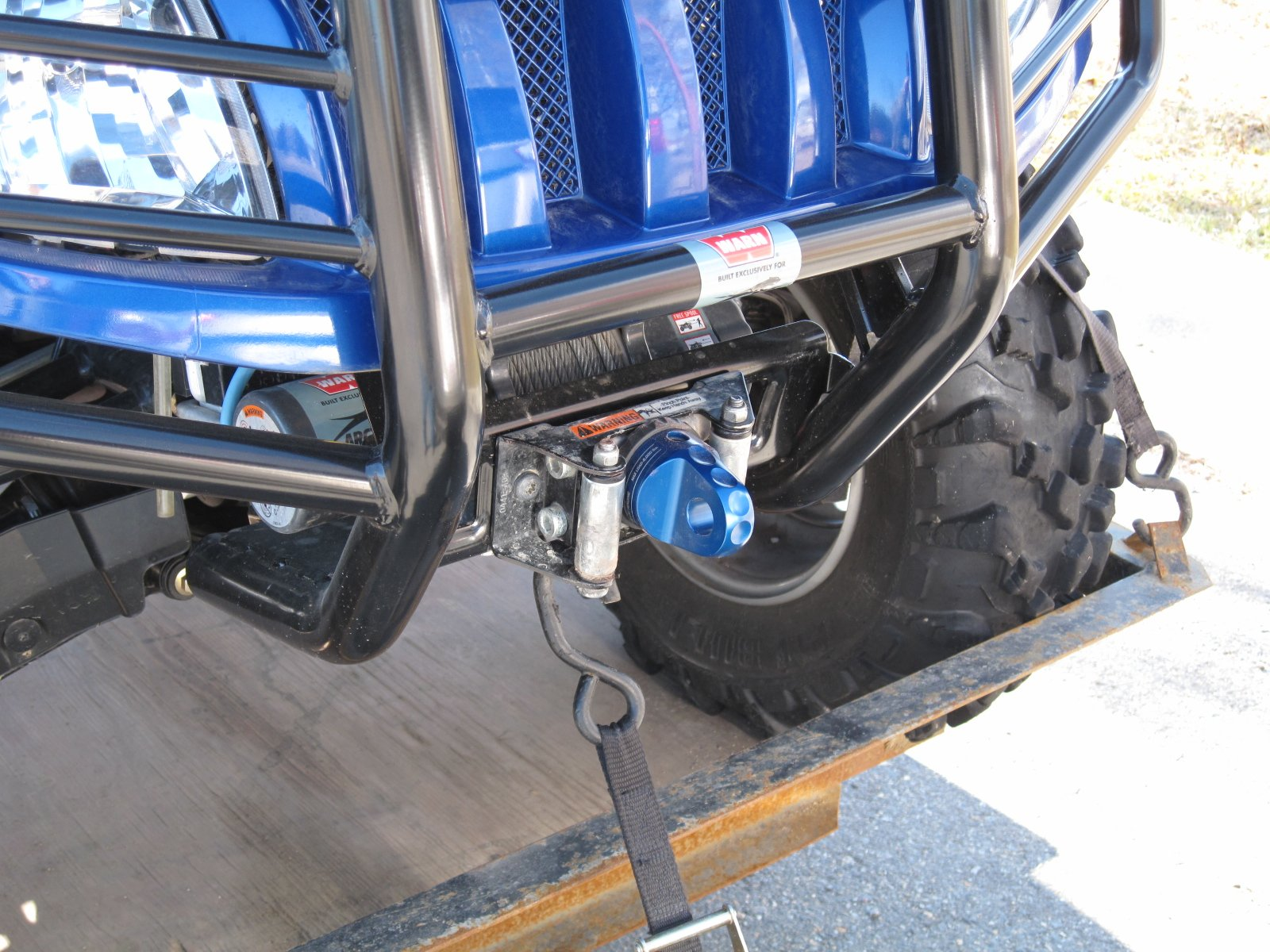 how to put on a recovery clevis on winch rope