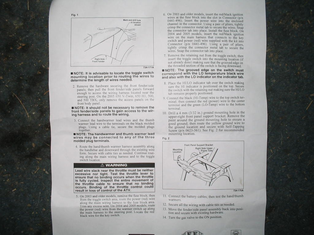 wiring diagram heated hand grips