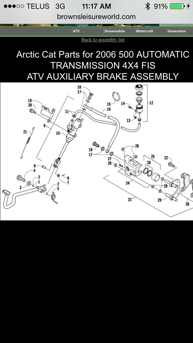 How Your Braking System Works Arcticchat Com Arctic Cat Forum Rh Arcticchat  Com Honda ATV Parts