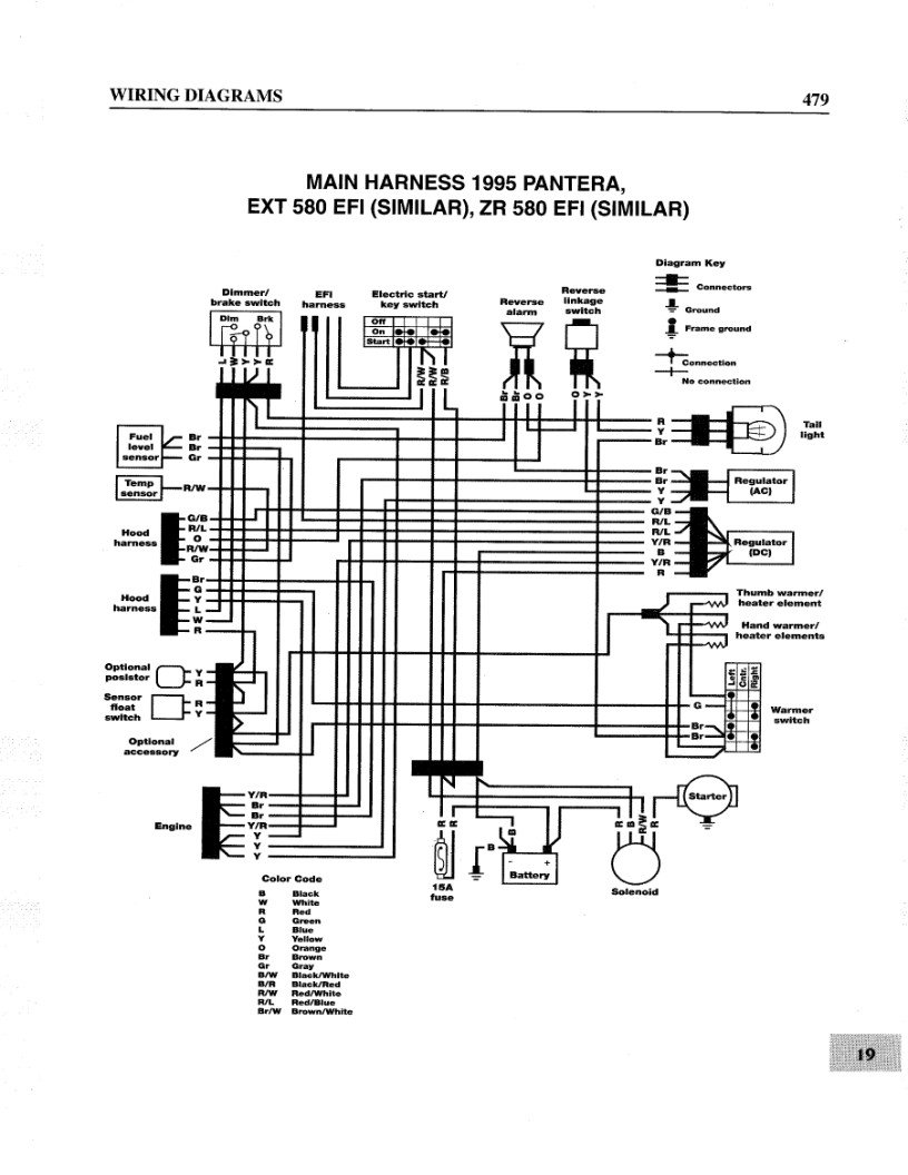 arctic cat 600 efi wiring diagram