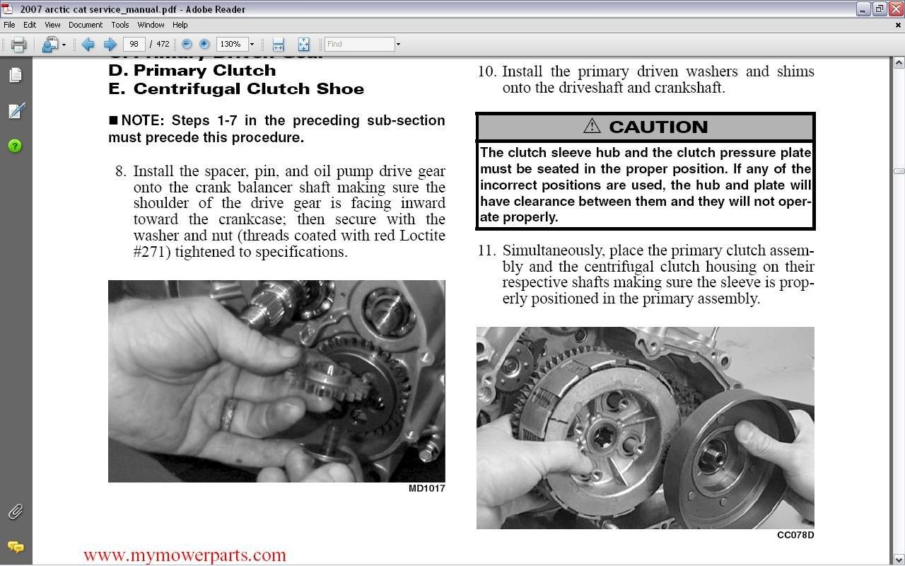 400 4x4 clutch problem help arcticchat com arctic cat forum