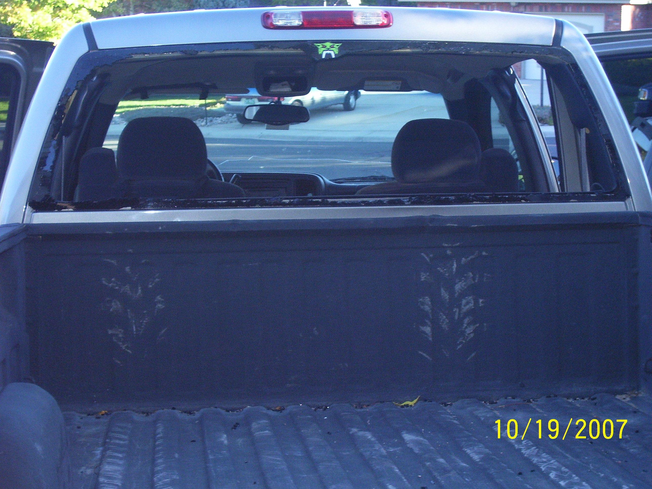 Broken Rear Window Page ArcticChatcom Arctic Cat Forum - Truck back window picture