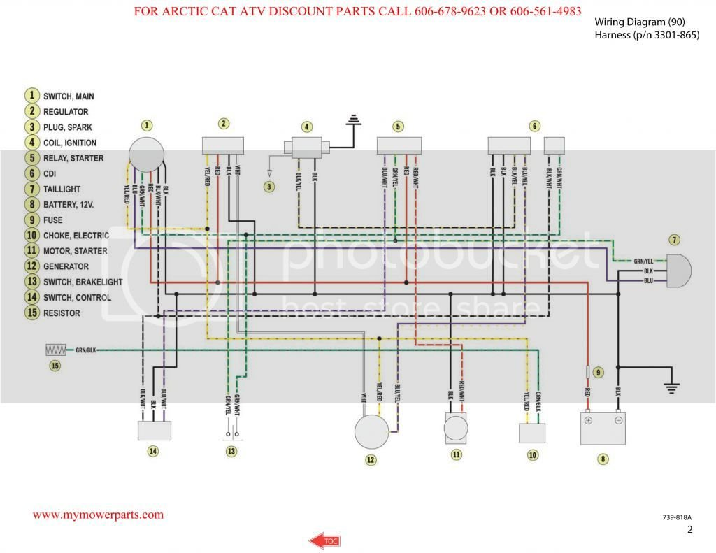 Arctic Cat 90 Wiring Diagram