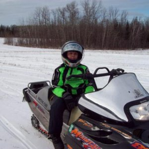 "My 10 year old son Alex on the 144"" Mountain Cat 800."
