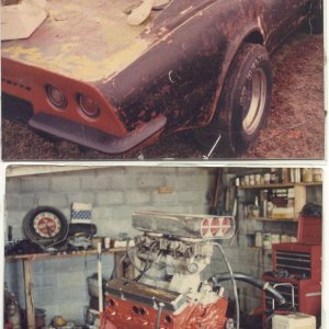 73 tunnel ram vette, strip multi paint colors, HOK paint in end..JPG